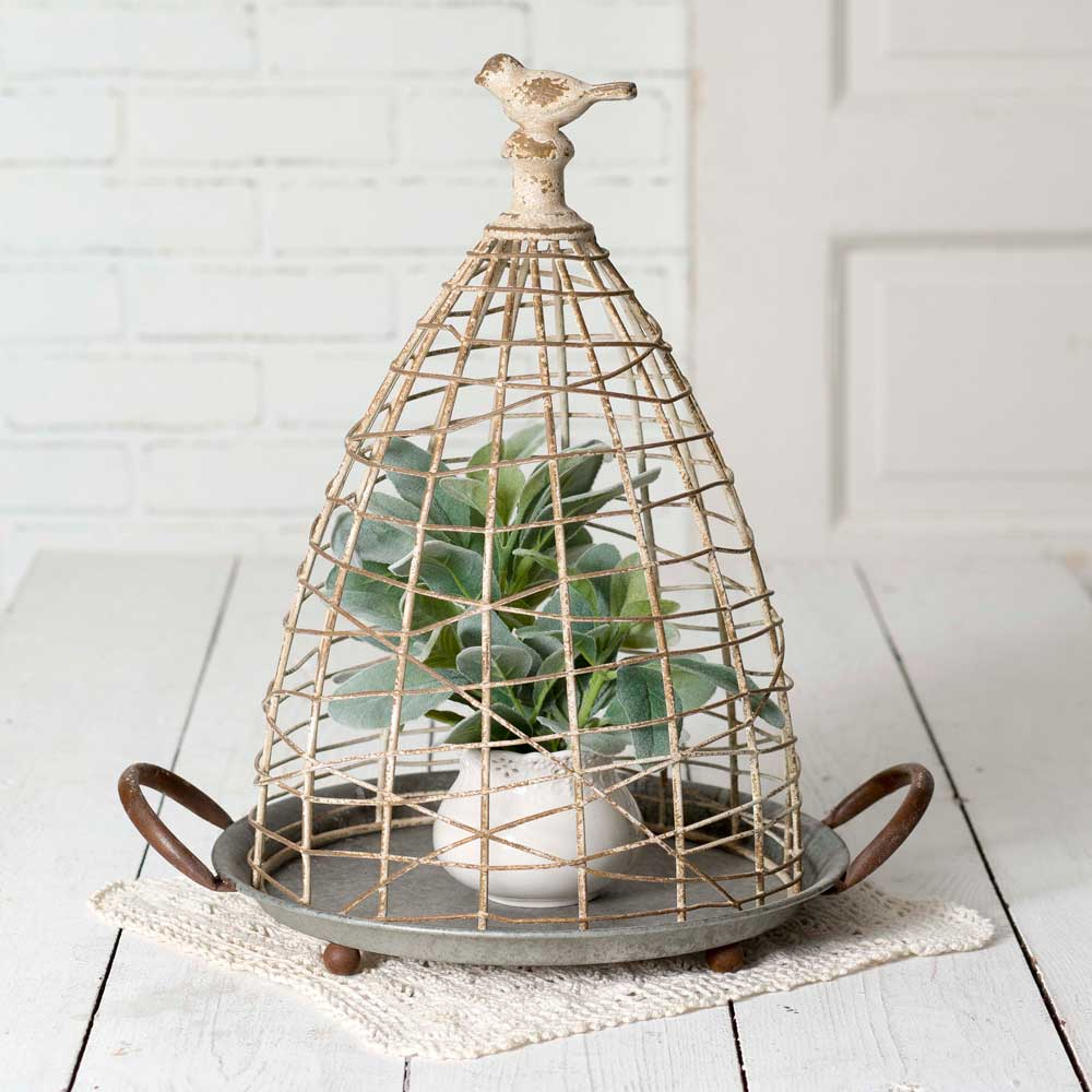 Bird's Nest Cloche with Base