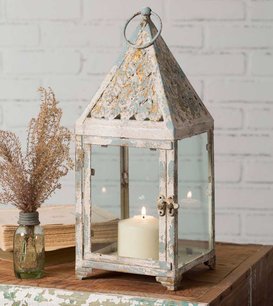 Square Tiffany Candle Lantern