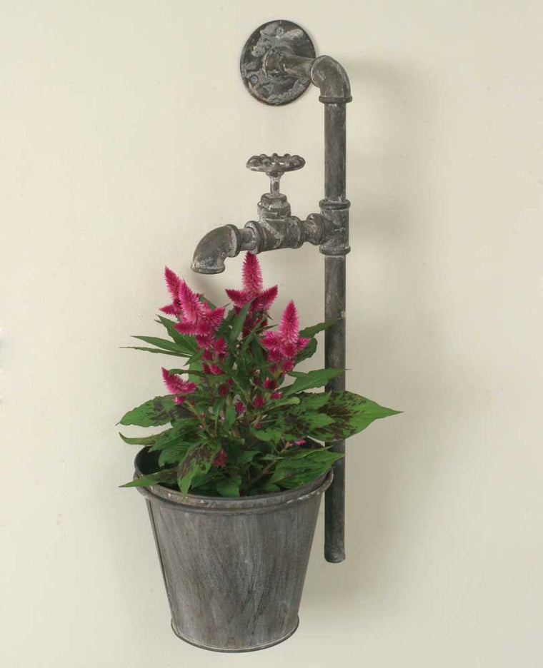 Water Spigot Wall Planter