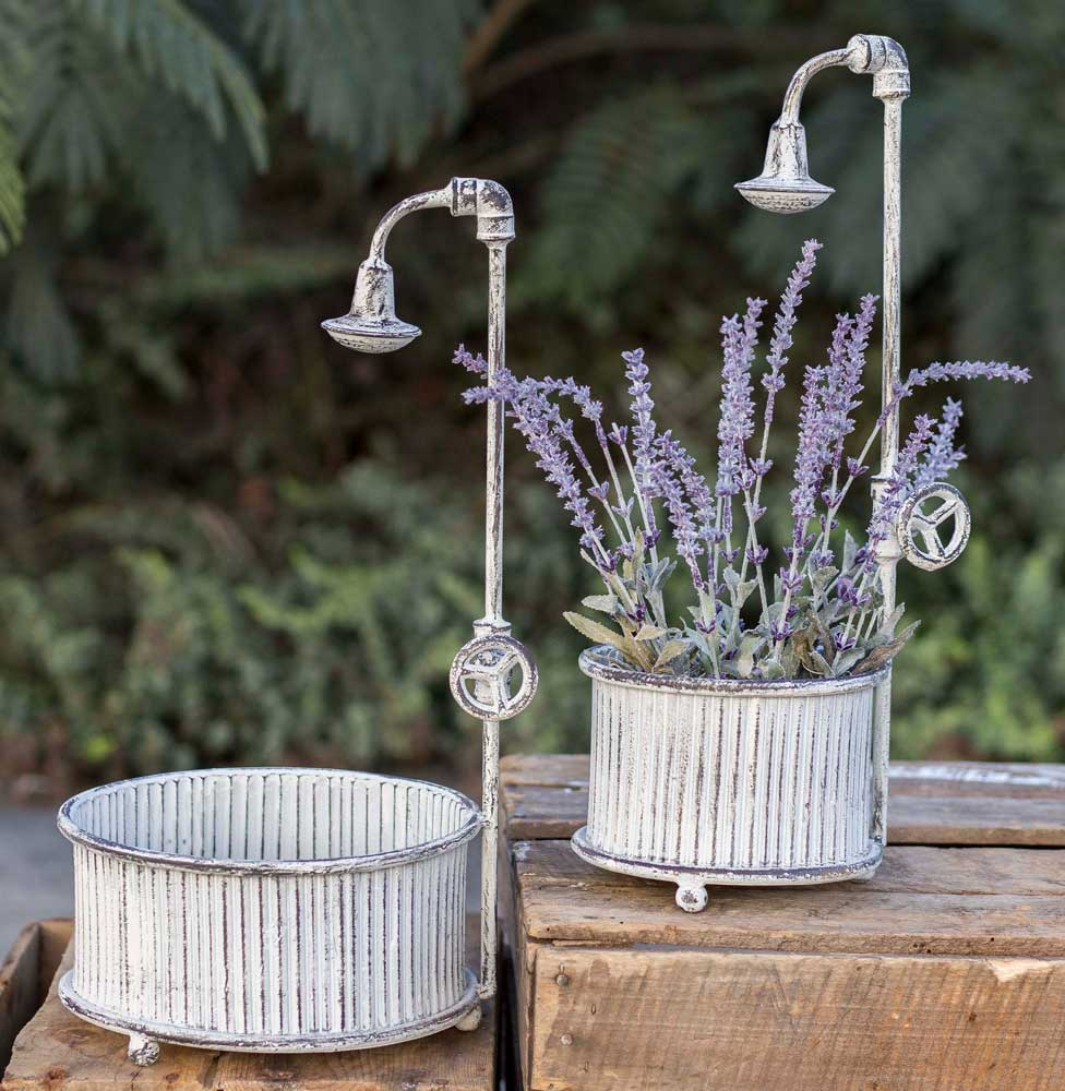 Set of Two Springtime Showers Planters