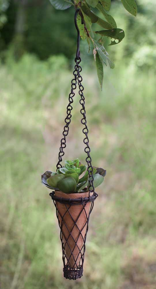 Small Hanging Terra Cotta Pot