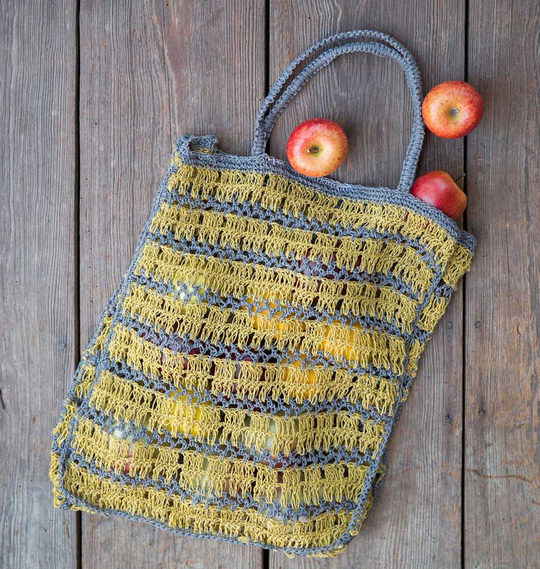 Yellow Jute Tote Bag