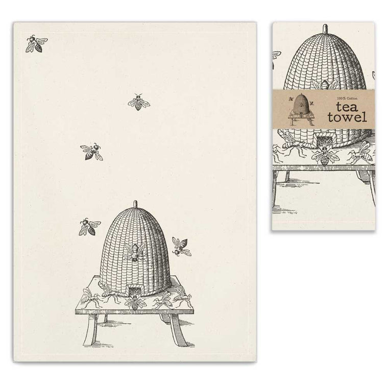Bee Skep Tea Towel | Set of 4