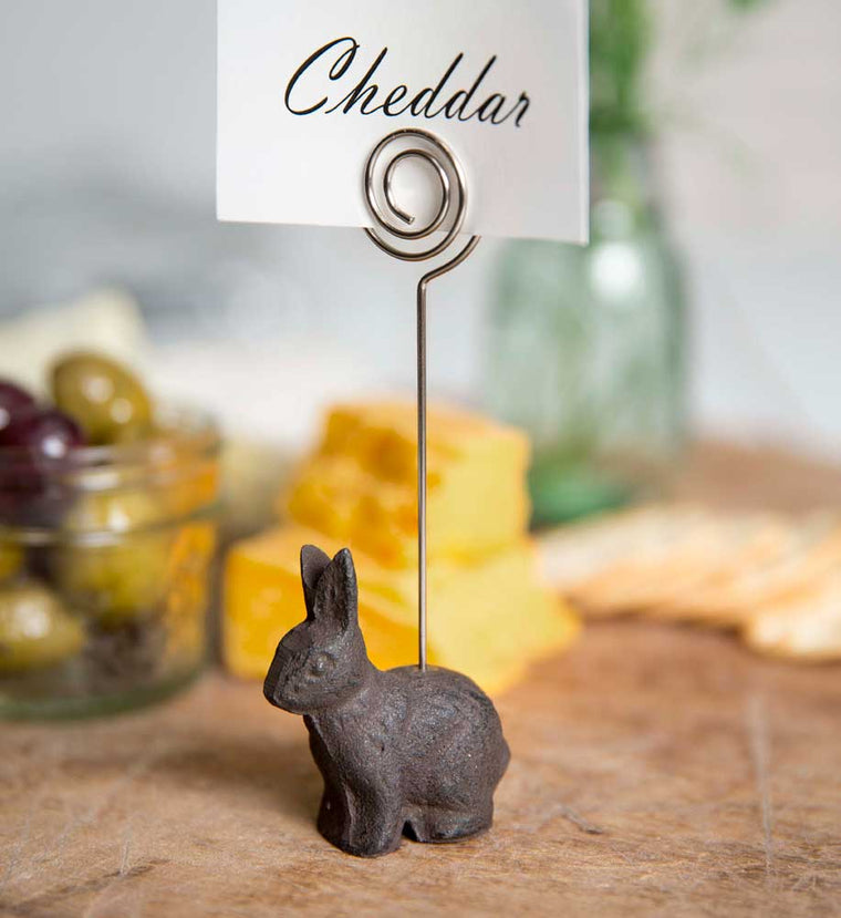 Cast Iron Bunny Place Card Holder | Set of 4
