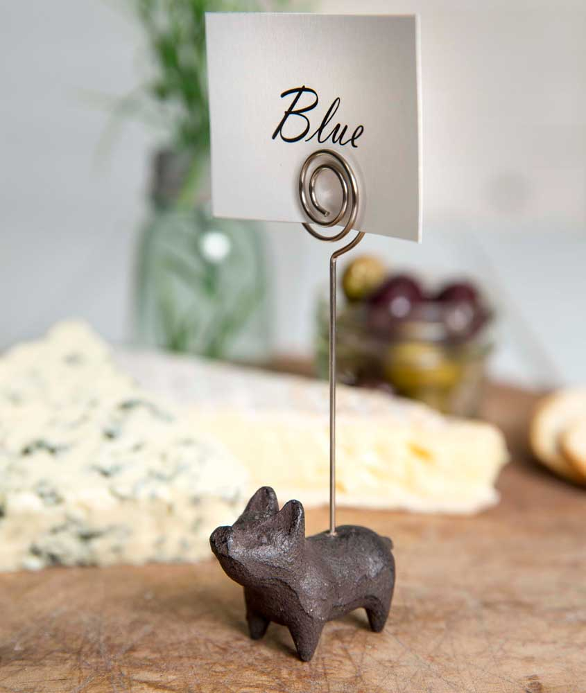 Cast Iron Piglet Place Card Holder | Set of 4