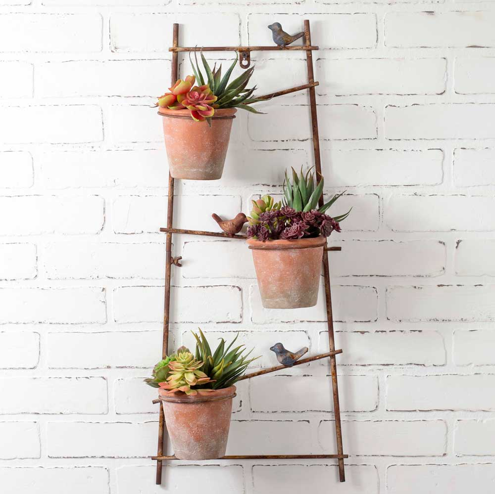Trellis Planter with Three Pots