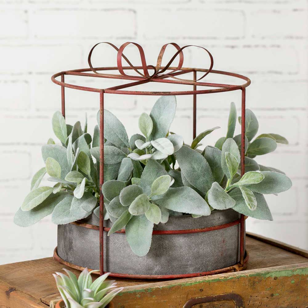 Hat Box Planter with Pot