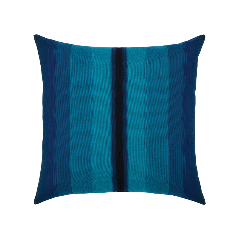"Ombre Azure and Navy Outdoor Pillow 20""x20"""