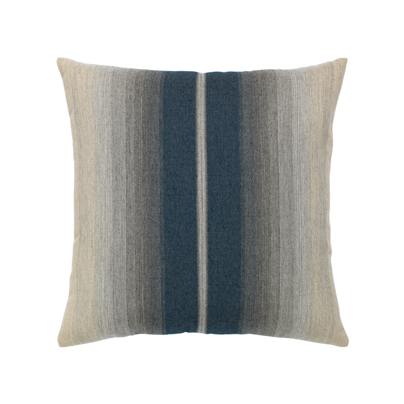 "Ombre Indigo and Gray Outdoor Pillow 20""x20"""