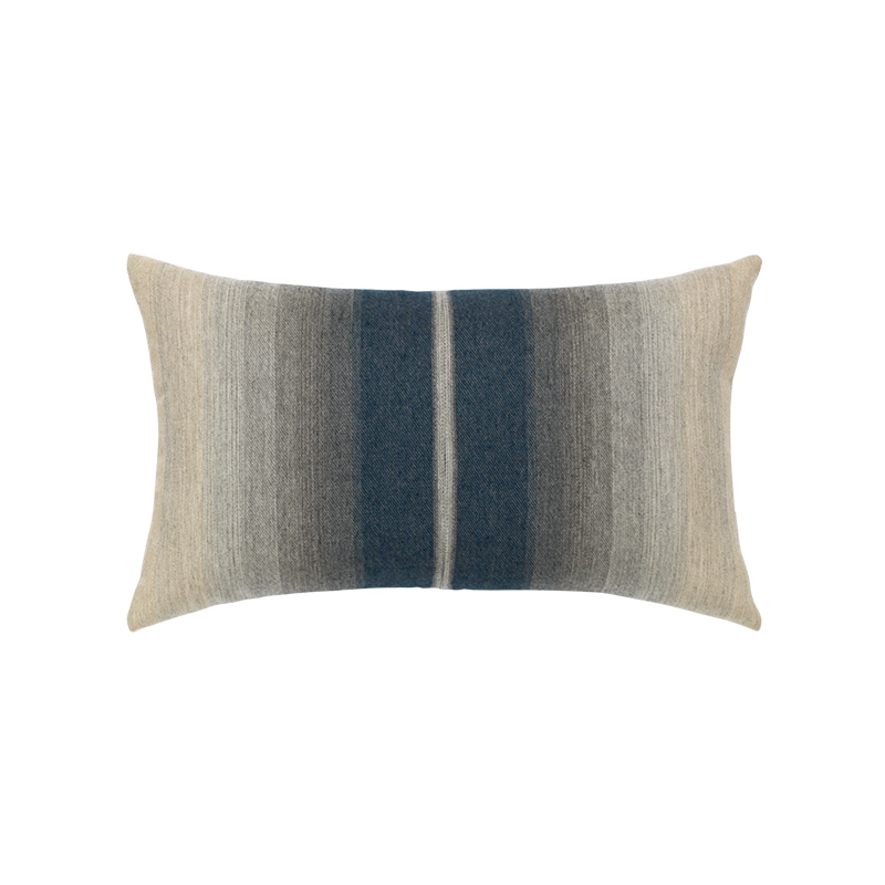 "Ombre Indigo and Gray Outdoor Pillow 12""x20"""