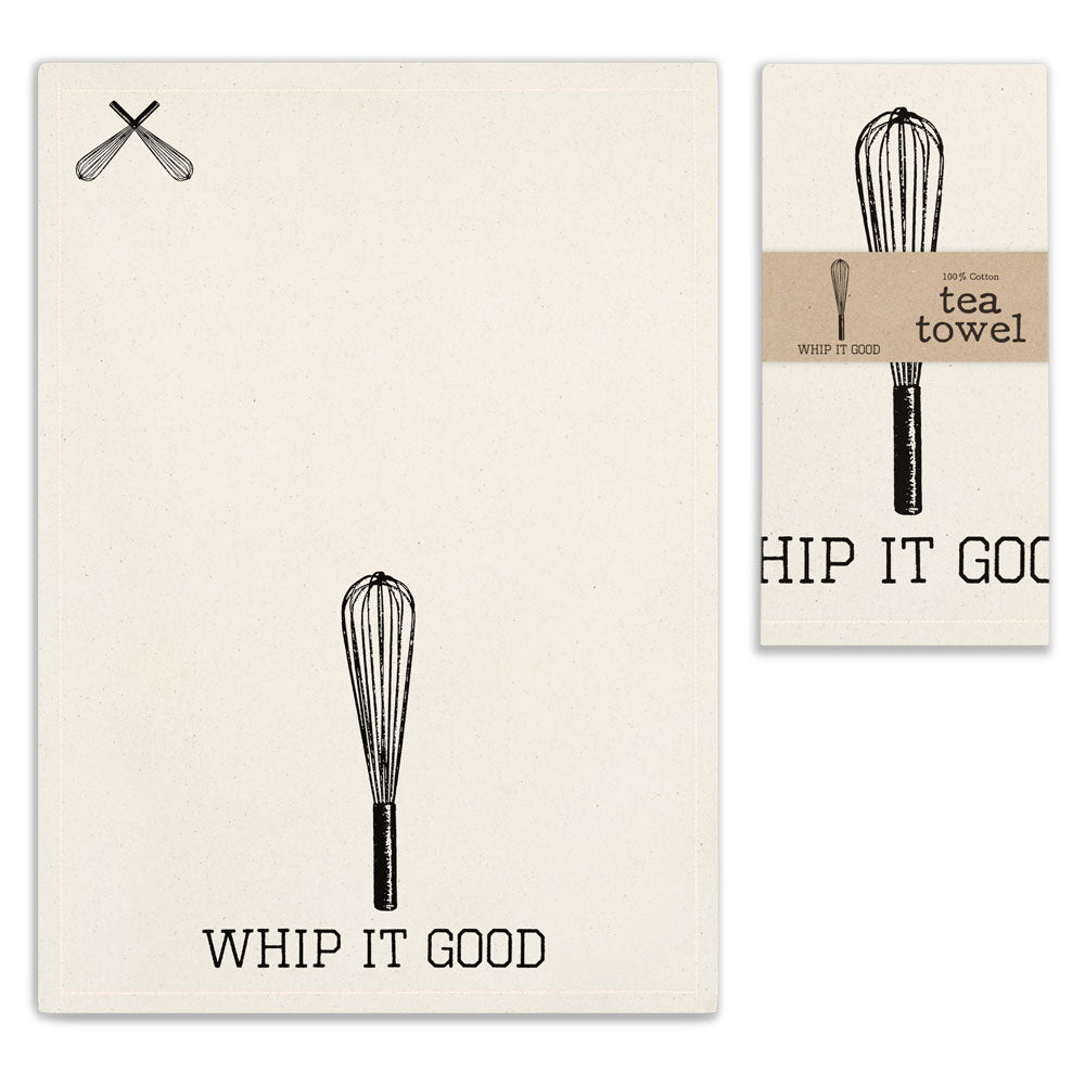 Whip It Tea Towel | Set of 4