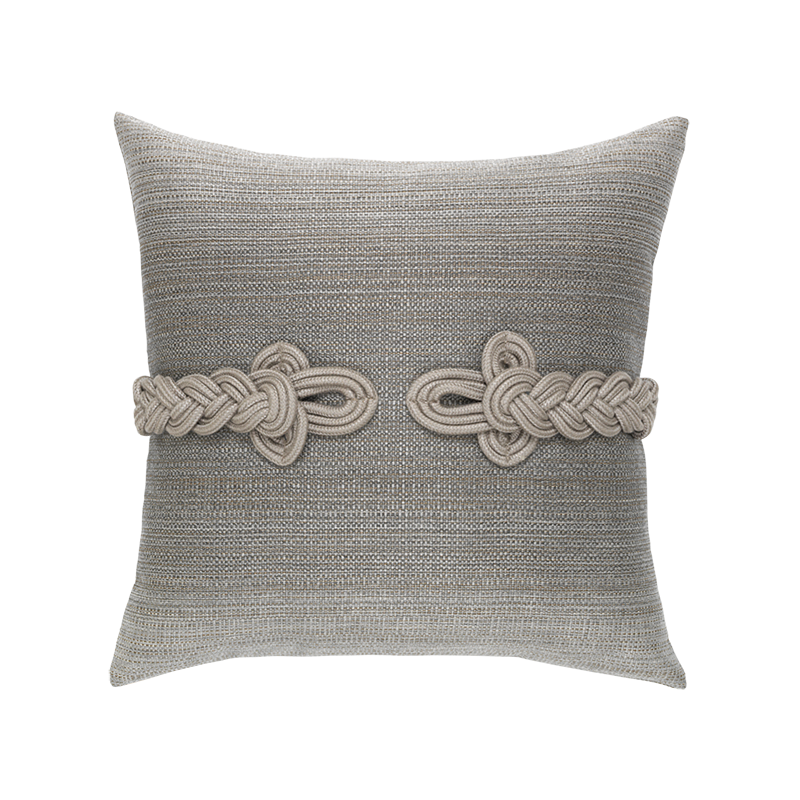 Grey Cadet Frog's Clasp Indoor and Outdoor Pillow by Elaine Smith