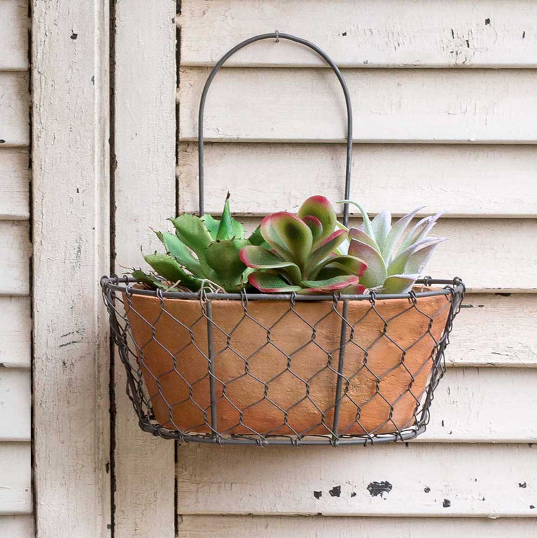 Chicken Wire Wall Planter