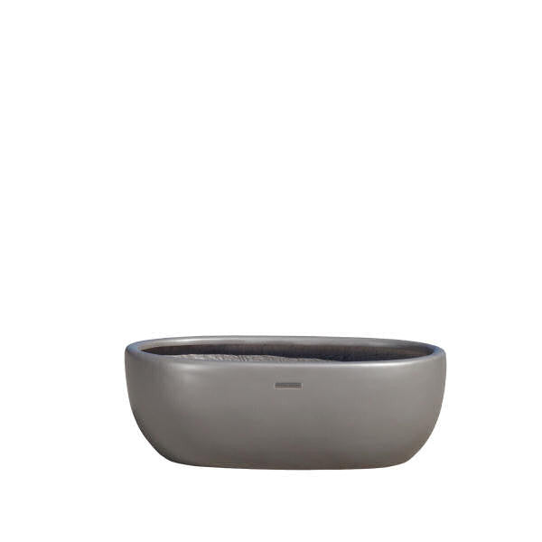 Brown Jordan Oval Boat Planter, Mica Gray Fiberglass
