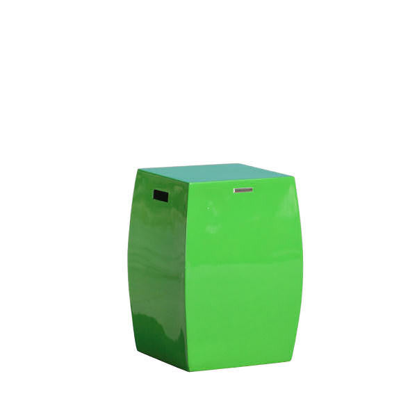 Brown Jordan Square Curved Garden Stool | More Colors Available