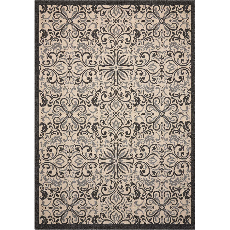 Magdalenea Outdoor Indoor/Outdoor Rug Ivory and Charcoal