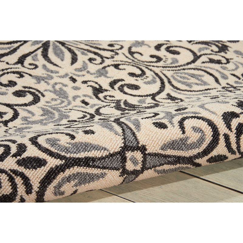 Detail of Magdalenea Outdoor Indoor/Outdoor Rug Ivory and Charcoal