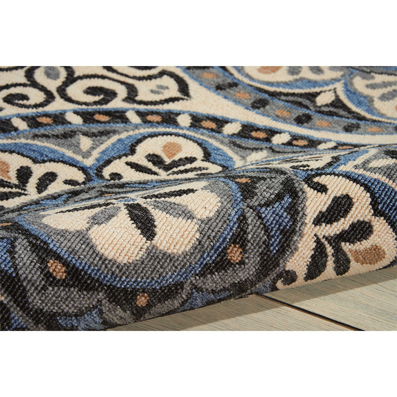 Detail of Barbados Indoor/Outdoor Rug Ivory and Charcoal