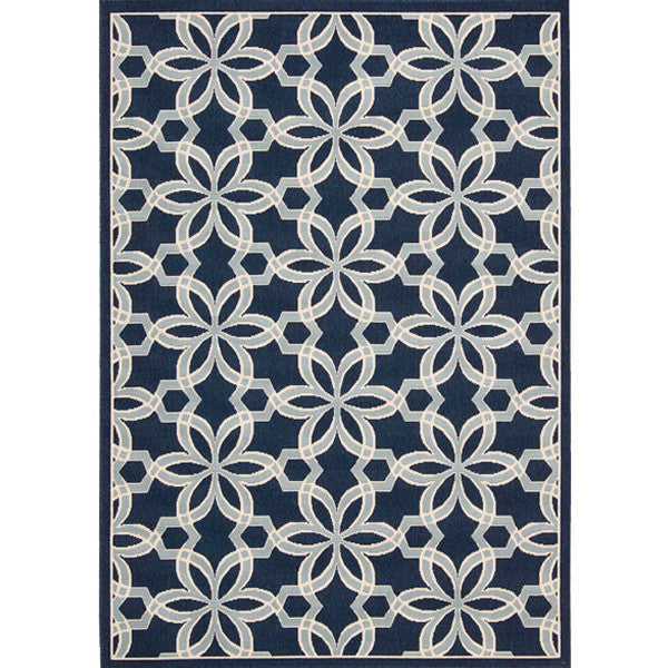 Grenada Outdoor Rug in Navy