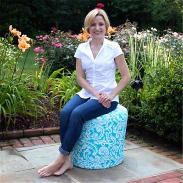 Colima carpi outdoor ottoman with model