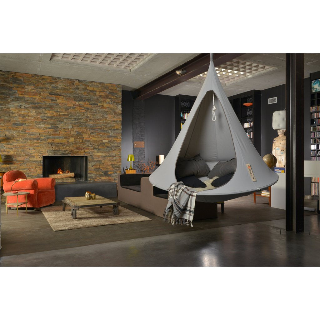 Light Grey Cacoon in a contemporary living room