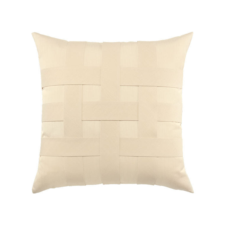Basketweave Pillow Ivory