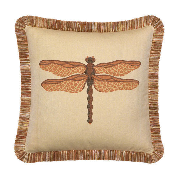 Elaine Smith Outdoor Dragonfly Pillow Spice