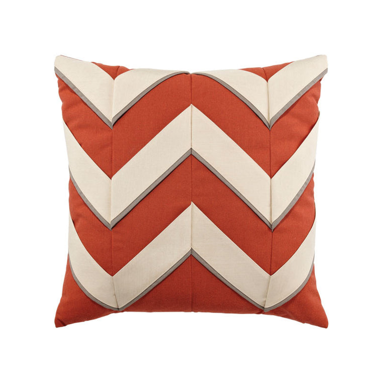 Coral Cruise Chevron Pillow