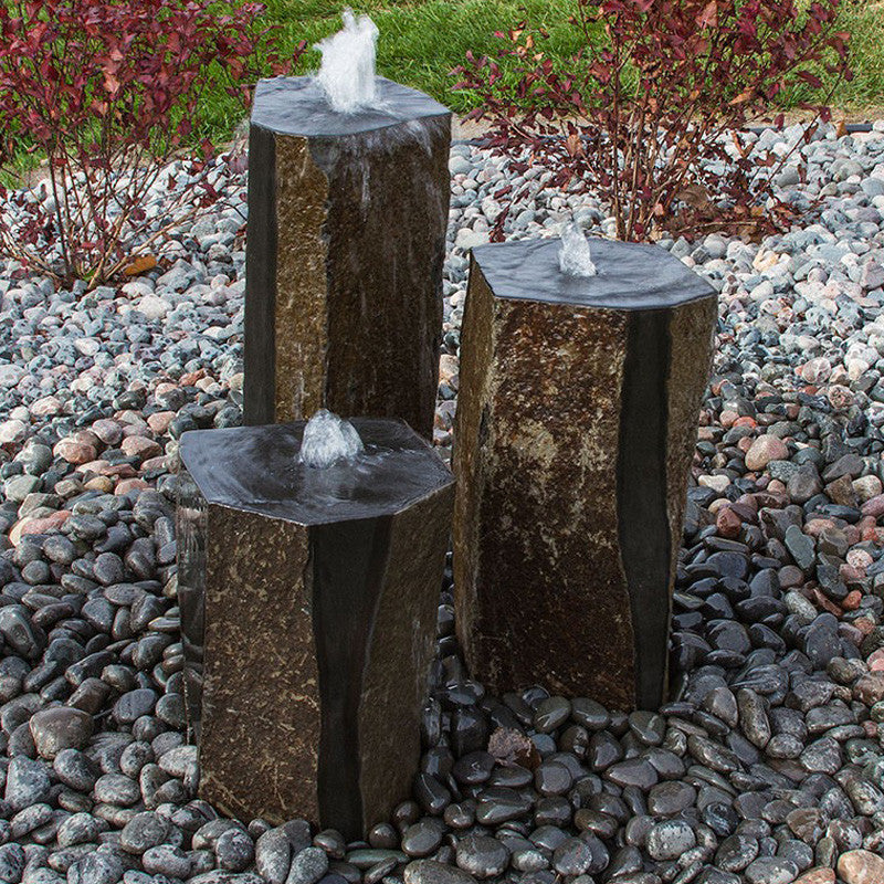 Semi-Polished Basalt Column Fontain Kit