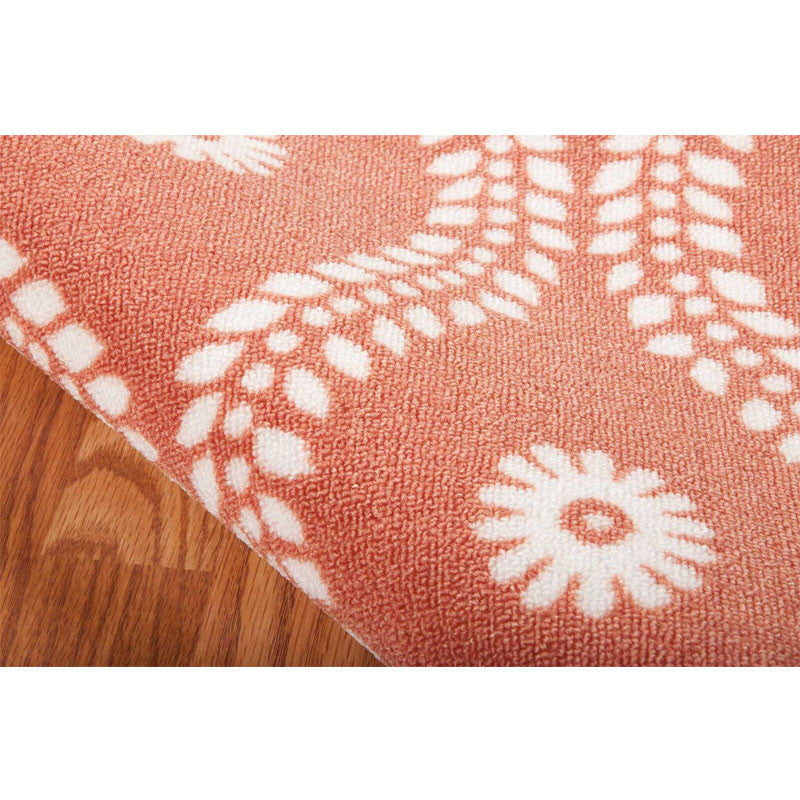 Detail of Alana Outdoor Rug in Rust
