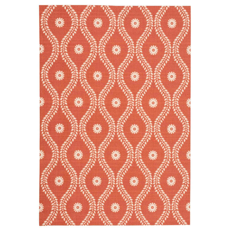 Alana Outdoor Rug in Rust