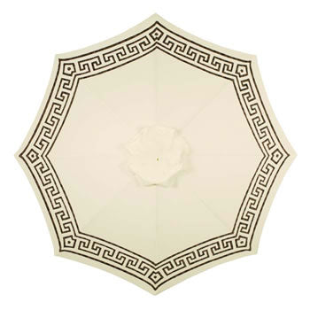 Katherine hand-painted patio umbrella - alabaster