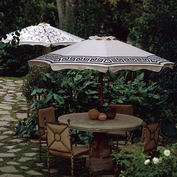 Katherine hand-painted patio umbrella