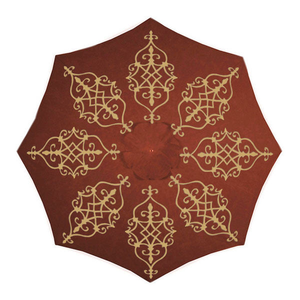 Olivia Hand-Painted Patio Umbrella | More Colors Available