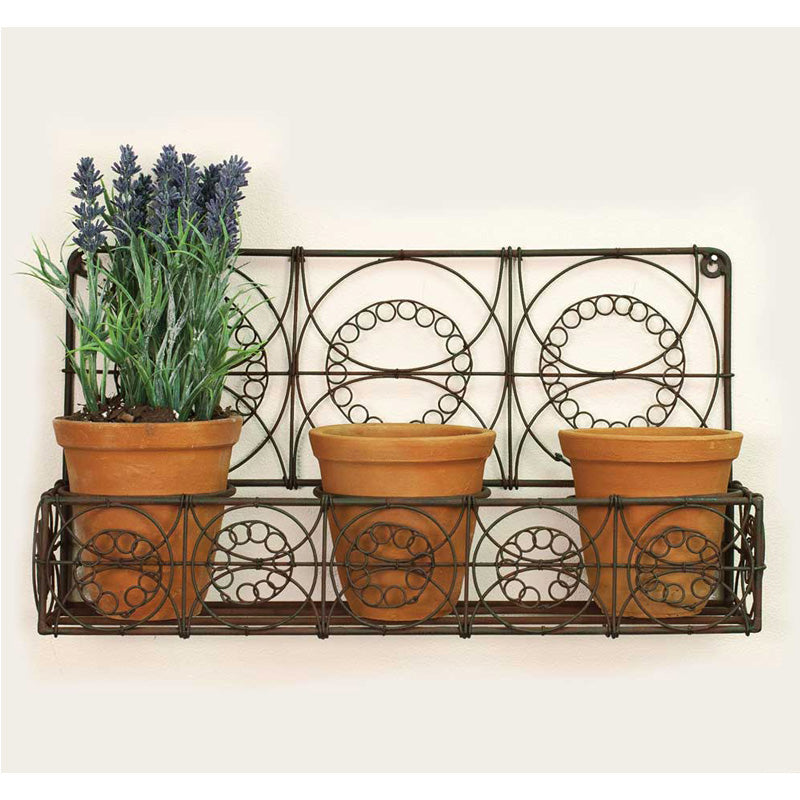 Wall Planter with Three Terra Cotta Pots