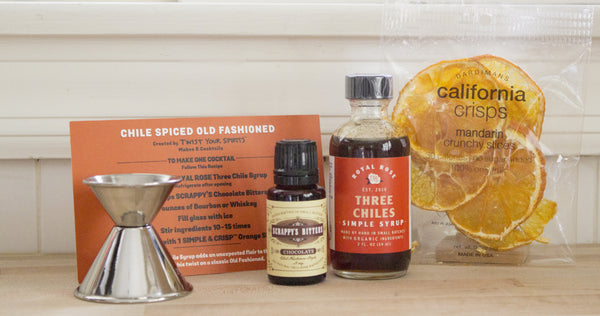 Cocktail Ingredients - Chile Spiced Old Fashioned Cocktail Kit - Twist Your Spirits