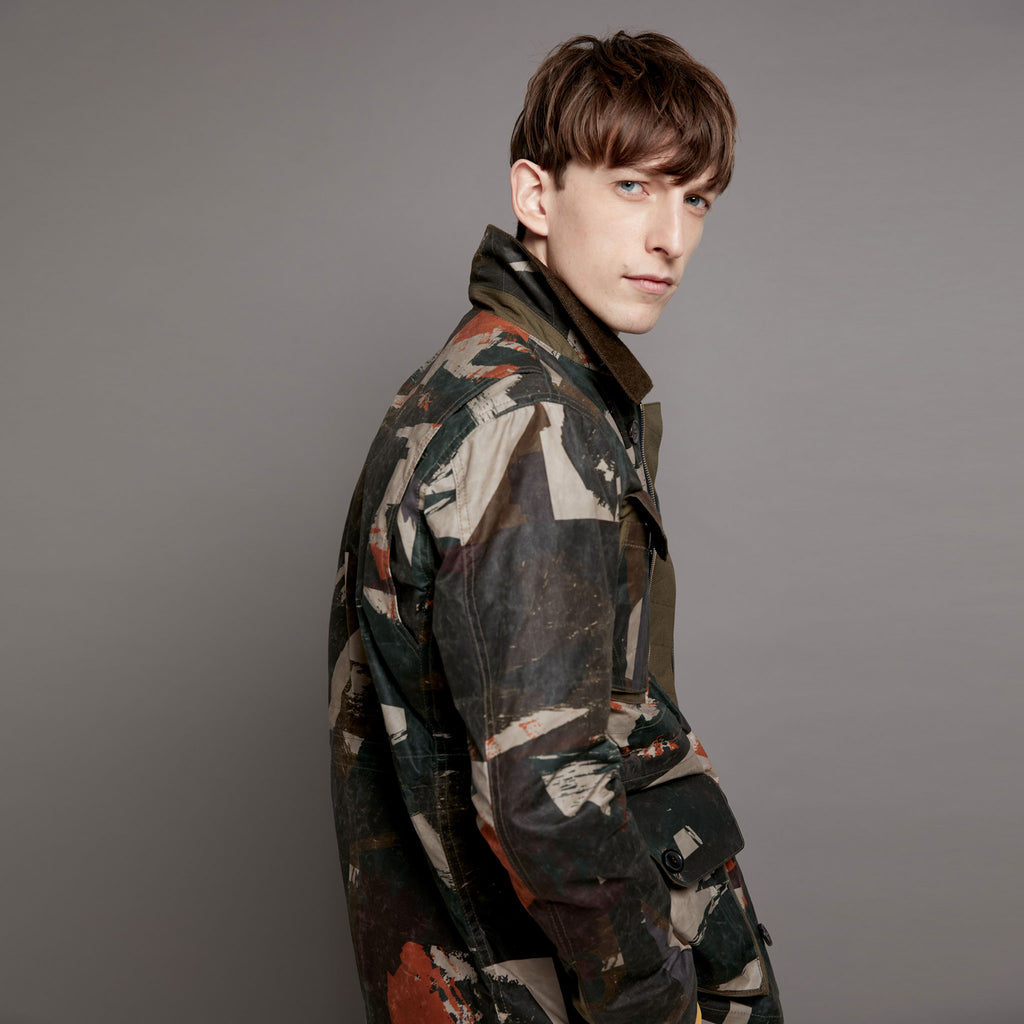 Wax 4 Pocket Camo Field Jacket