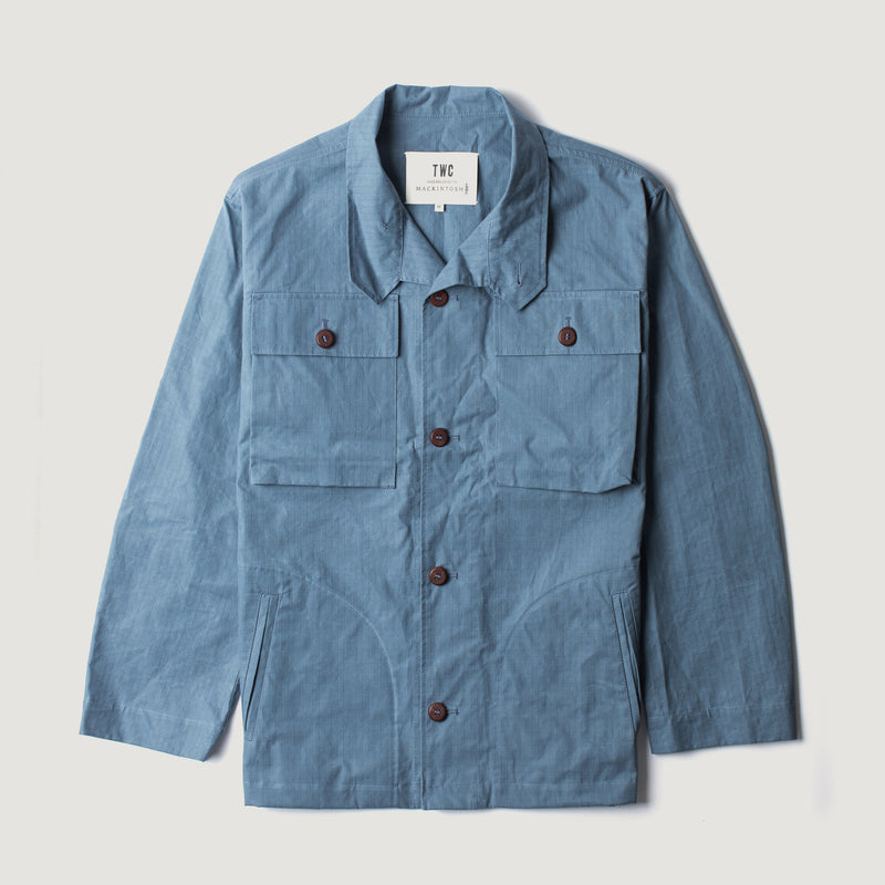 Men's Deck Jacket - Airforce Blue Ripstop (Made by Mackintosh)