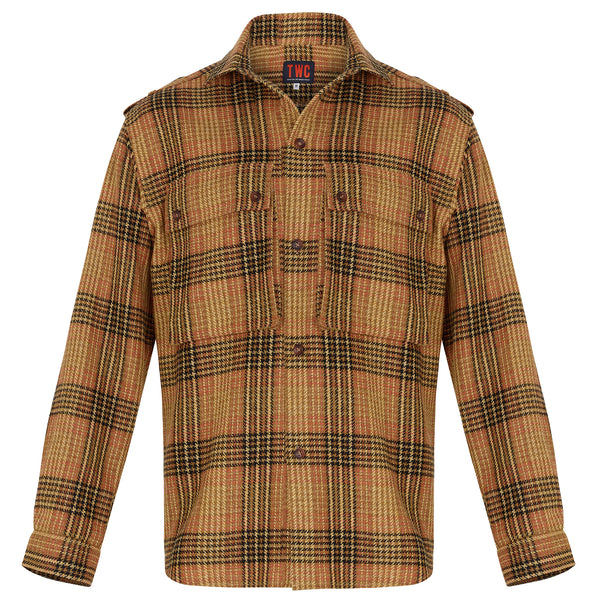 Shirt Jacket - Orange Check