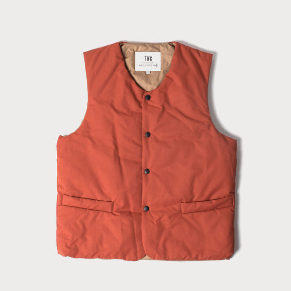 Orange Cotton/ Nylon vest (Made by Mackintosh)