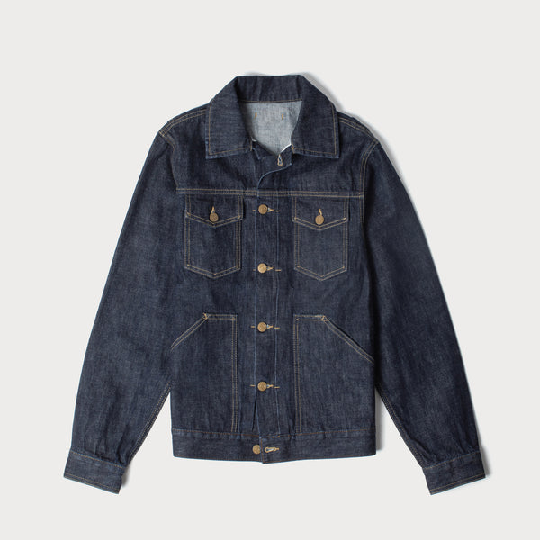 Men's 13oz Japanese Selvedge Denim Jacket (Indigo Rinse)