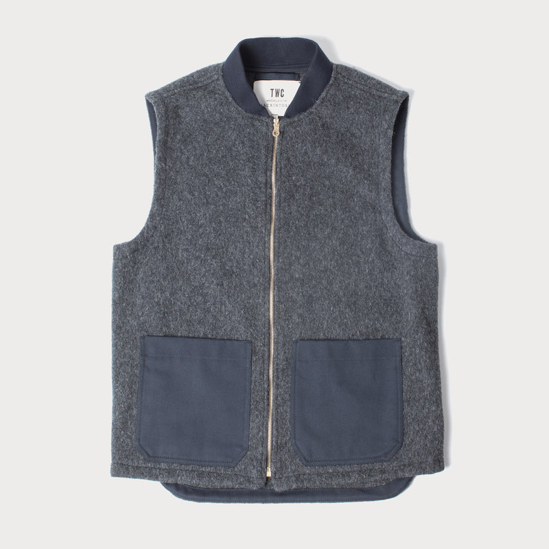 Charcoal Wool Gilet (Made by Mackintosh)