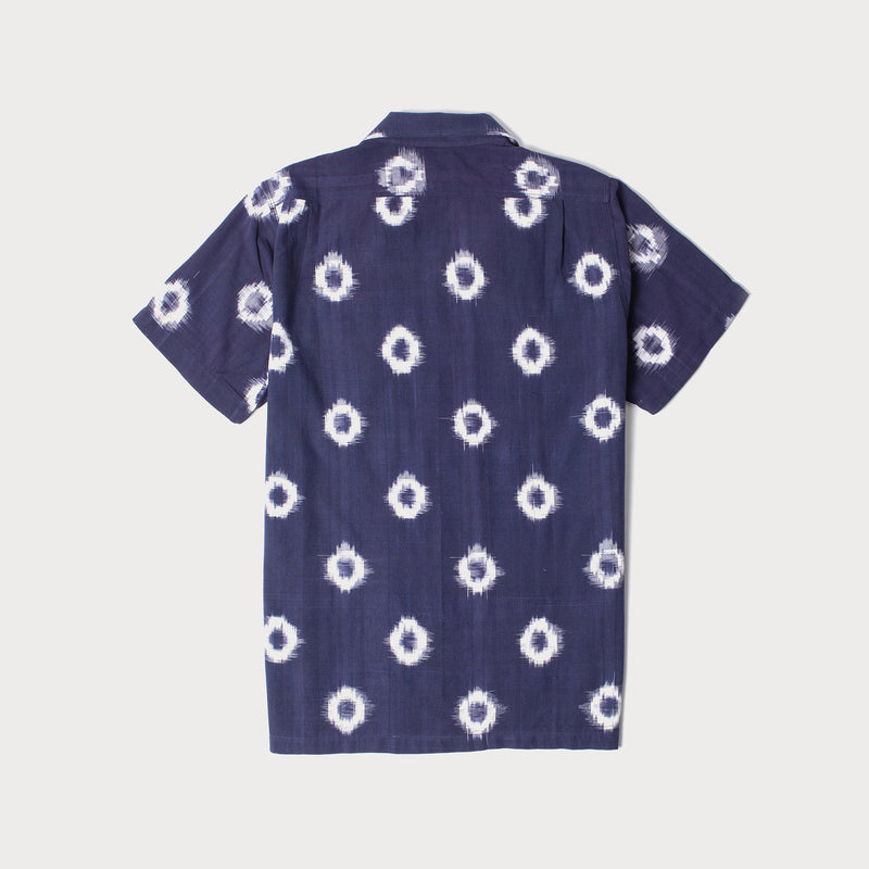 Camp Collar Short Sleeve Shirt (Ikat)