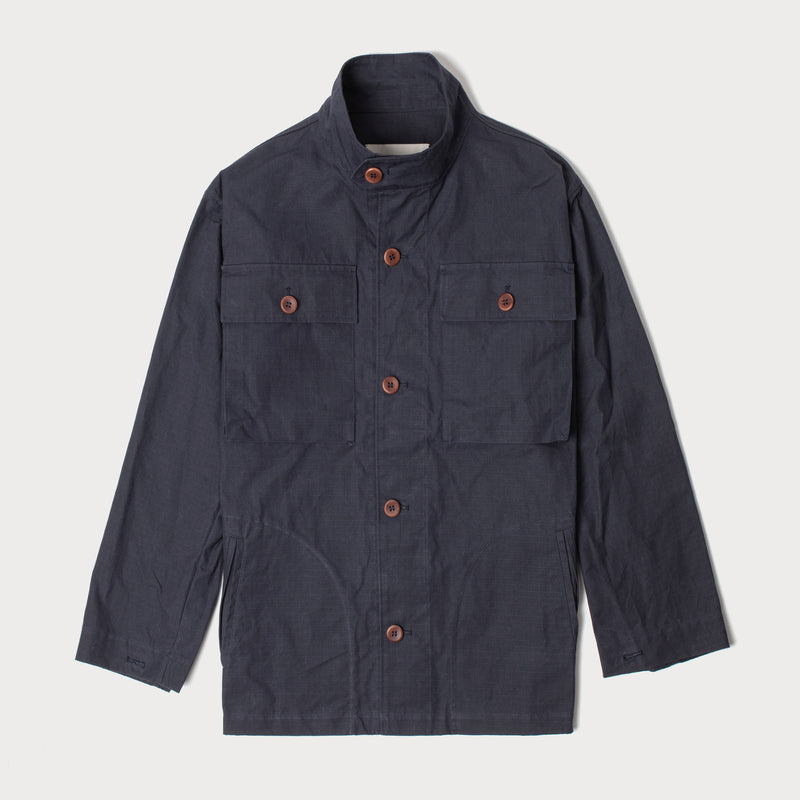 Men's Deck Jacket - Navy Ripstop (Made by Mackintosh)