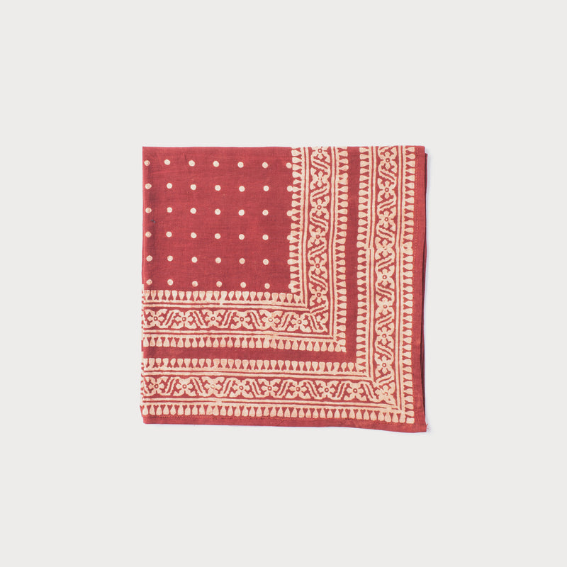 Printed Cotton Bandana - Red