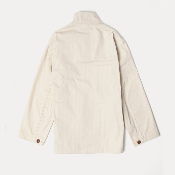 Men's Deck Jacket - Stone Cotton Herringbone (Made by Mackintosh)