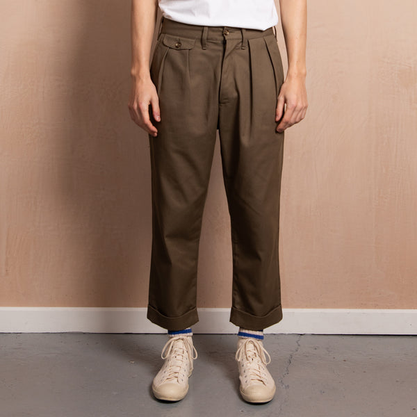 Men's Pleat Front Chino (Khaki)