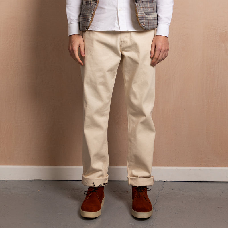 RELAXED FIT - Selvedge Denim Jeans - Natural Raw