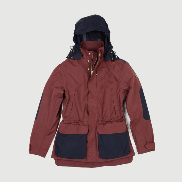 Burgundy & Navy Blue Shell Jacket