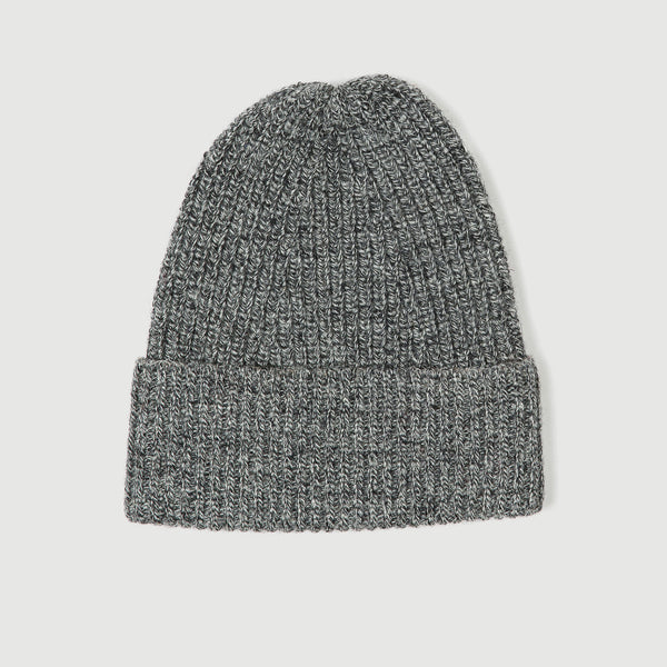 Grey Tweed Tuck Rib Beanie